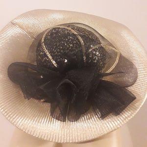 CHURCH DERBY TEA BLACK GOLD ASYMMETRICAL HAT